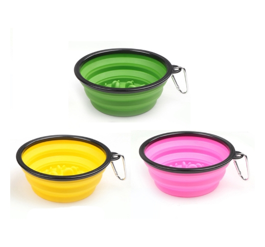Foldable Travel Slow Feeding Bowl 1000ml