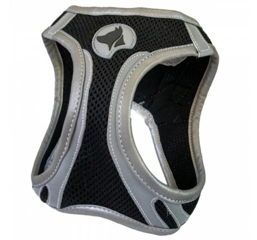 Harness Refelctive Black L 46-53cm