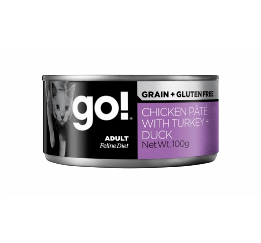 Go! Grain Free Chicken, Turkey & Duck Pate 100g