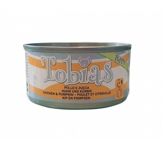 Tobias Canned Puppy Food Chicken with Pumpkin in Water 85g