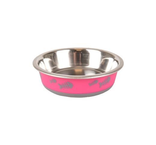 "Bowl ""Fish Bone"" Pink XS 225ml 12,3cm"