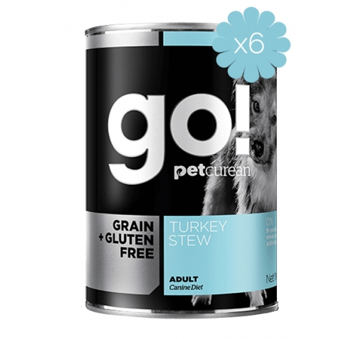 6x Go! Daily Defence Turkey Stew for Dogs 400g