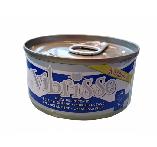 Vibrisse Canned Kitten Food Ocean Fish 70g