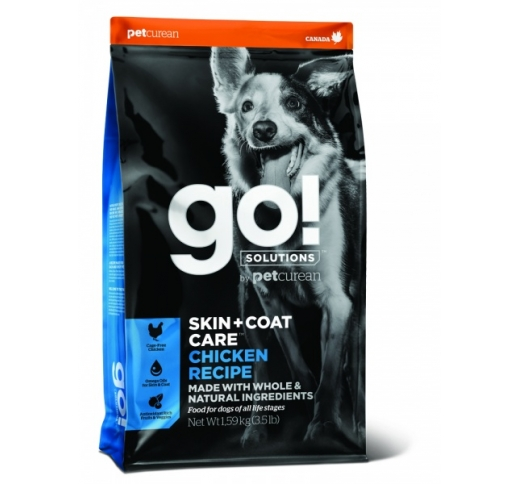 GO! Skin + Coat Chicken Recipe for Dogs & Puppies 1,6kg