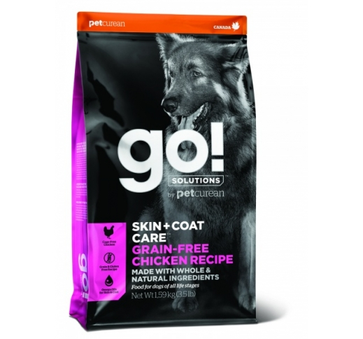GO! Skin + Coat Grain Free Chicken Recipe for Dogs & Puppies 1,6kg, Best before 19/02/21