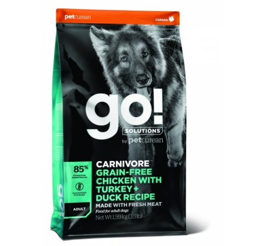 GO! Carnivore Chicken, Turkey + Duck Recipe for Adult Dogs 10kg