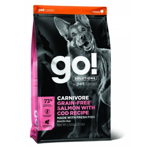GO! Carnivore Salmon with Cod Recipe for Dogs & Puppies 1,6kg