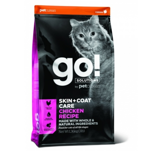 GO! Skin + Coat Chicken Recipe for Cats & Kittens 7,3kg