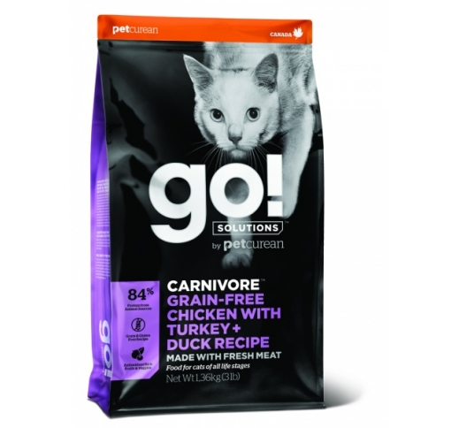GO! Carnivore Chicken, Turkey + Duck Recipe for Cats & Kittens 1,4kg