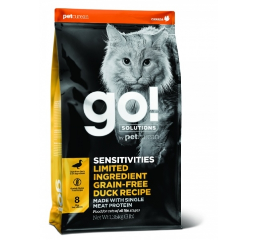 Go! Sensitivities Grain Free Duck Recipe for Cats & Kittens 3,7kg