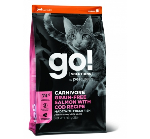 Tester GO! Carnivore Salmon with Cod Recipe for Cats 100g