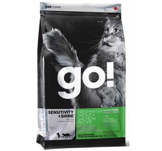 GO! Sensitivity+Shine Holistic Grain Free Complete Cat Food with Trout and Salmon 7,2kg