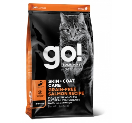 GO! Skin + Coat Salmon Recipe for Cats 100g