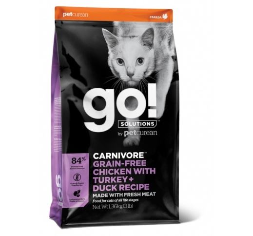 GO! Carnivore Chicken, Turkey + Duck Recipe for Cats & Kittens 3,7kg