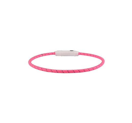 Collar with LED Light Pink 33-63,5cm 8mm