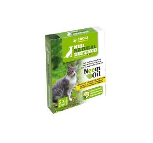 Niki Natural Defence Spot on Vials with Neem Oil for cats 5x2ml