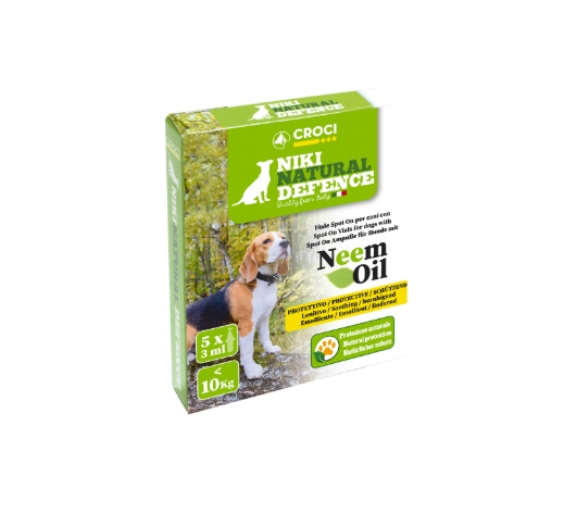 Niki Natural Defence Spot on Vials with Neem Oil for dogs <10kg 5x3ml