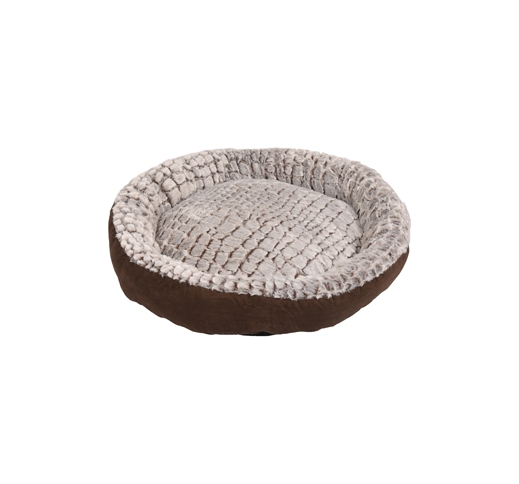Basket Snoozzy Round Brown/Grey 70x15cm
