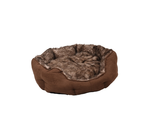 Basket Corno Octagonal Brown 57x52x16cm