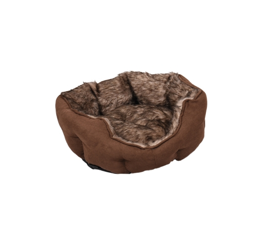 Basket Corno Octagonal Brown 45x40x14cm