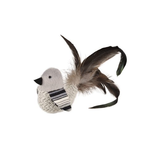 Cat Toy Pirin Bird with Feathers