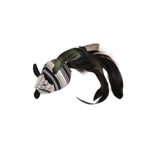 Cat Toy Pirin Mouse with Feathers