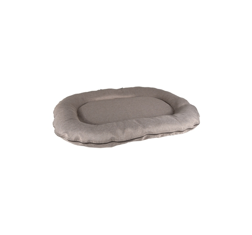 Cushion Vidova Oval + Zipper Taupe 100x75x15cm