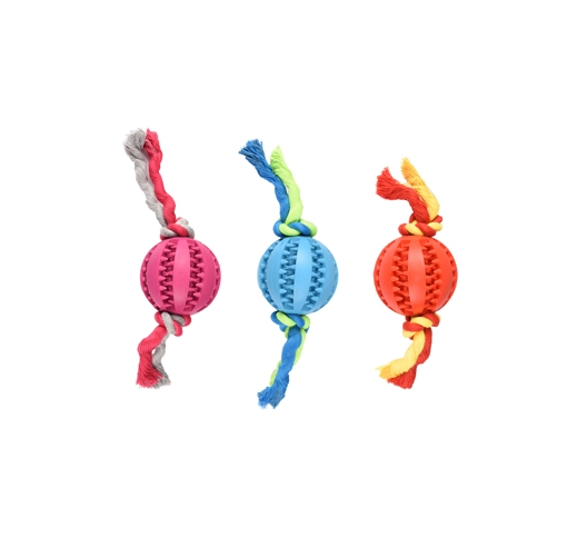 Rubber Dental Ball with Rope 7cm