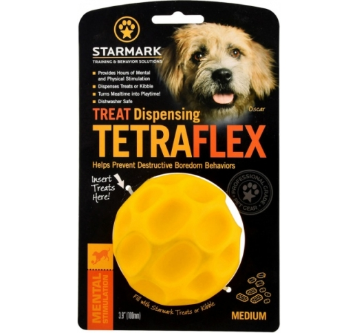 Starmark Tetraflex Treat Dispensing Ball M - игрушка для жевания