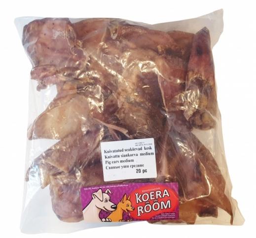 Dried Pig Ears M 20pcs