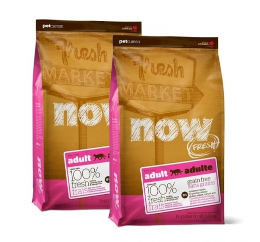 2x NOW Fresh Adult Cat Grain-free recipe 1,81kg