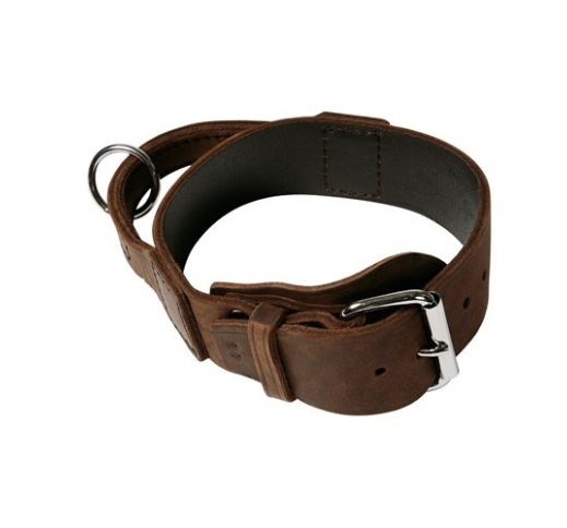 Soft Leather Collar with Handle 40mm x 55-65cm