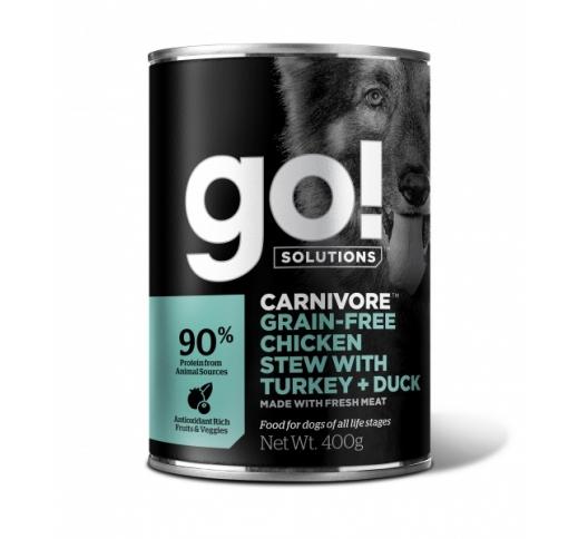 GO! Carnivore Kana Hautis Koos Kalkuni & Pardiga Koerale 400g