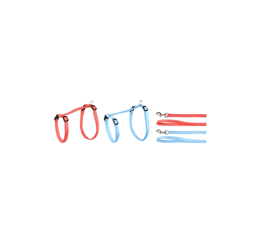 Kitten Harness + Leash Aiwa 25-40cm 10mm