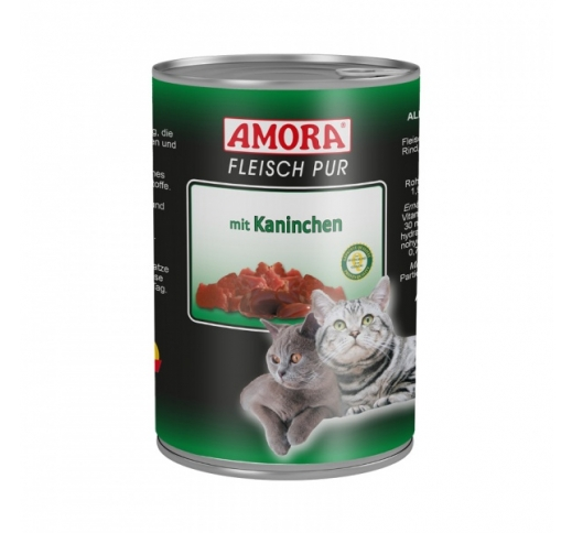 Amora Canned Cat Food (Rabbit) 400g