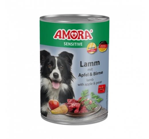 Amora Sensitive консервы для собак - баранина, яблоко и груша 400г