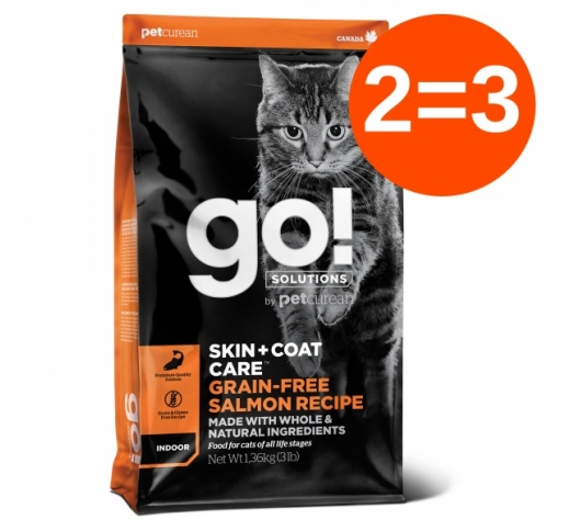 2=3 GO! Skin + Coat Salmon Recipe for Cats & Kittens 1,4kg 30/01/2021