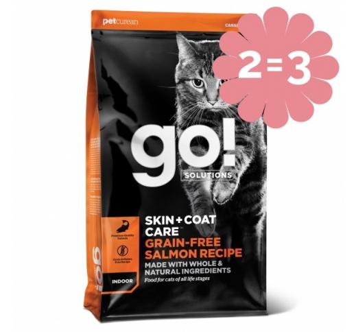 2=3 GO! Skin + Coat Lõhega Kuivtoit Kassile & Kassipojale 1,4kg