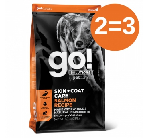 2=3 GO! Skin + Coat Salmon Recipe for Dogs & Puppies 1,6kg 22/01/2021