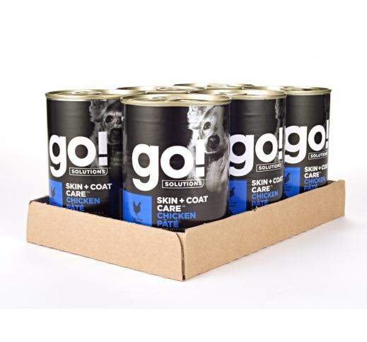 6x GO! Skin + Coat консервы с курицей для собак 400g