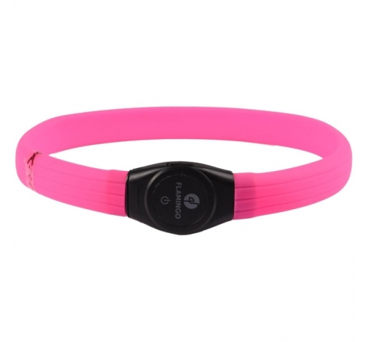 LED Collar Jumbo Pink 35-64cm