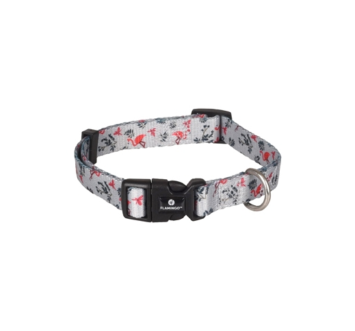 Collar Samar Grey with Flamingo 30-45cm 15mm