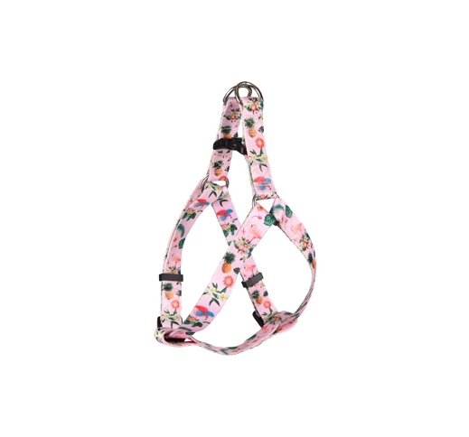 Harness Sera Pink with Flamingoes 45-60cm 20mm