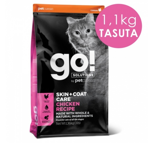 GO! Skin + Coat Chicken Recipe for Cats & Kittens 7,3kg + 1,1kg TASUTA (31/01/21)