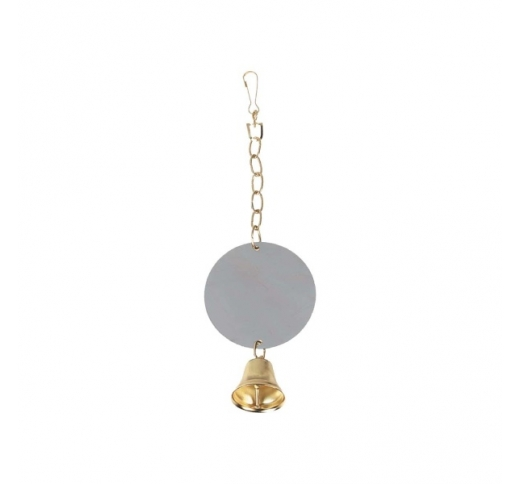 Bird Toy Mirror with Bell XL 10cm
