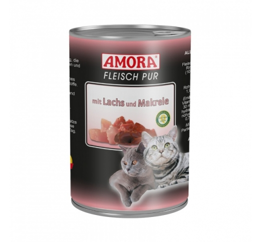 Amora Canned Cat Food (Salmon & Mackerel) 400g