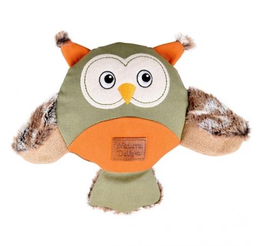 "Игрушка для собак ""Natura Delight Owl"" 24см"