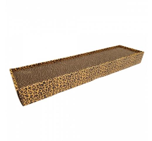 Когтеточка из картона для кошки Leopard 48x12,5x5см