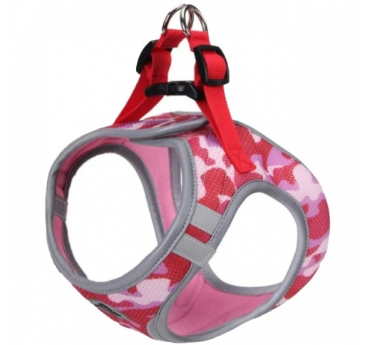 Harness Refelctive Army Pink S 34-41cm