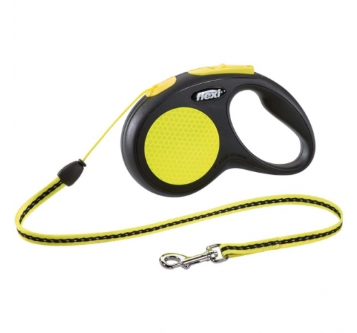 Flexi New Neon S Cord 5m Black/Neon - up to 12kg